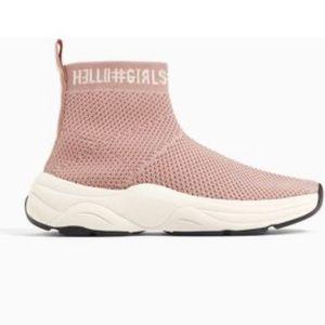 Zara sock sneaker with memory foam